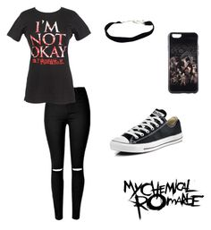 """""""My Chemical Romance"""" by musicqueen72 ❤ liked on Polyvore featuring Converse"""