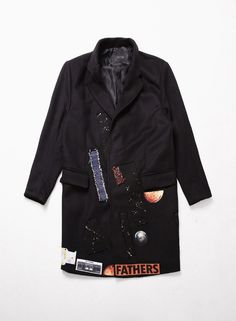 Mens Neoprene Patchwork Snap Button Oversized Woolen Coat at Fabrixquare