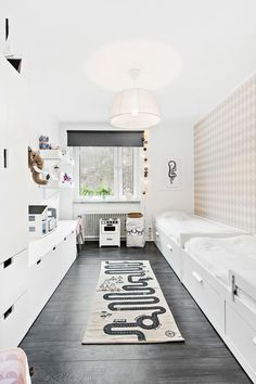 Lastenhuone / Décoration chambre enfant / Barnrum inredning / 아이방인테리어 / キッズルーム / Kinderkamer / Kids room in Scandinavian style #bunnyinthewindow