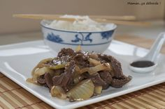 Boeuf sauté aux oignons Cata, Beef, Food, Asian, Meat, Asia, Recipes, Kitchens, Meal