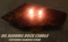 Oil Burning Rock Candle