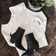 WEBSTA @ shoplunab - Restock alert ✖ @matissefootwear CATY boot is back   paired with our Balmy nights cold shoulder sweater