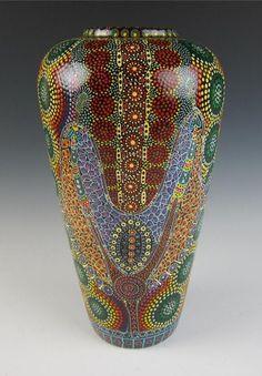 Keringke Kathleen Wallace Aboriginal Art Large Pottery Vase Australia Aborigine   eBay