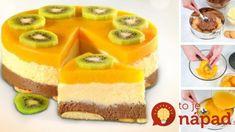 Nepečená krupicovo-broskyňová torta
