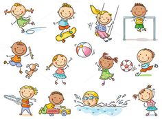Buy Set of Cartoon Kids Outdoor Activities by katya_dav on GraphicRiver. Little cartoon kids activities – playing outdoor games or going in for sports, set of 12 kids, no gradients Outdoor Games, Outdoor Activities For Kids, Outdoor Play, Cartoon Cartoon, Logo Fitness, Diabetic Dog, Stick Figures, Kids Sports, Clipart