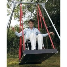 Wheelchair swing for playground