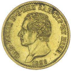 20 Lire 1828 Turin Italien | goldankauf-haeger.de
