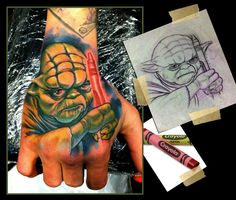 Gotta love tattoos with humor, Artist: Scotty Munster
