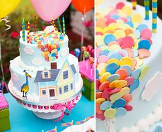 Disney Up Themed Birthday Party Sources:Cake: Kakes by Katie Fondant work on cake: Two Sugar Babies Decors Pate A Sucre, Disney Cakes, Cute Cakes, Creative Cakes, Themed Cakes, Cake Art, Party Cakes, Let Them Eat Cake, Birthday Party Themes