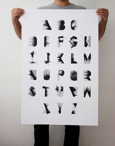 RS Bold  24 x 36 Hand Printed Silkscreen Typographic by LouMedel