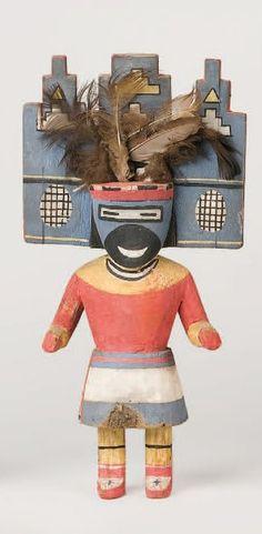 Kachina SALAKO MANA HOPI , circa 1950 Les ornements de la tableta et du