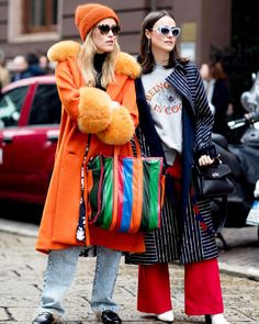 The Best Street Style Looks From Milan Fashion Week Fall 2017 – Fashionista… Street Style Chic, Looks Street Style, Street Style 2017, Street Style Trends, Cool Street Fashion, Look Fashion, Winter Fashion, Womens Fashion, Fashion Trends
