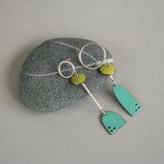 Picasso enamel earrings