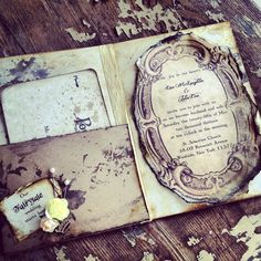 Pocketfold Invitations Fairytale Wedding Invitation by ShabbyScrap, $13.00