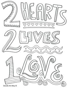 Love coloring pages love quotes coloring pages valentines day coloring pages doodle art alley easy coloring Wedding Coloring Pages, Valentines Day Coloring Page, Heart Coloring Pages, Printable Adult Coloring Pages, Cartoon Coloring Pages, Coloring Pages To Print, Coloring Books, Coloring Sheets, Colouring