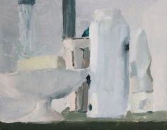 Aubrey Levinthal EVERY WHITE THING THAT'S IN THE BATHROOM  2012  OIL ON PANEL 8 X 10