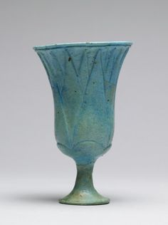 A Lotus Chalice. 1300`- 1000 B.C Egypt. The Walters Museum
