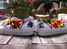 Maryland shoes plus Natty Boh and the Utz tater chip girl.