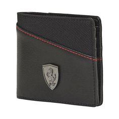 Men/'s Puma Ferrari Key Ring and Wallet Card Holder Gift Set Unique Present Black