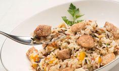 ensalada de arroz,pollo y mango