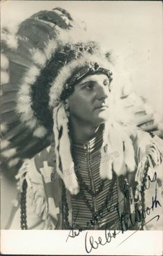 Signed photo of the Welsh tenor shown in role (prob. in Hiawatha), x inches, in excellent condition