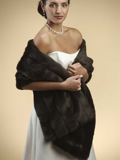 Amazon.com : Pelted Faux Mink Stole : Wedding Ceremony Accessories : Everything Else
