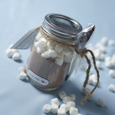 Home-made gift  Cute favors Hot Chocolate Mason Jars