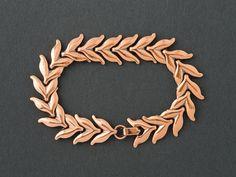 Vintage Renoir Leaf Bracelet from  ShinyShelly on Etsy