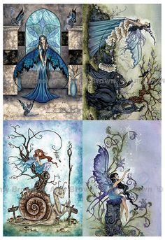 Fairy Whimsical postcard set by Amy Brown