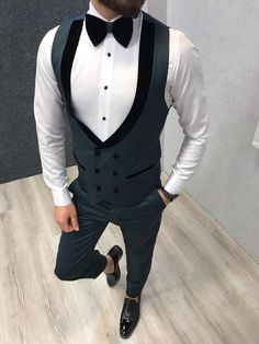 Wedding Suits Royal Green Tuxedo Suit - Product :vest Grooms Color code :green Size Suit material: p viscose 0 poly Machine washable : No Fitting :Slim-fit Remarks: Dry Cleaner Season : 2019 Spring Wedding Season Slim Fit Tuxedo, Tuxedo Suit, Tuxedo For Men, Green Wedding Suit, Wedding Suits, Mens Fashion Suits, Mens Suits, Traje A Rigor, Green Tuxedo
