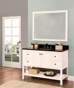 """Hampton Bay 48"""" Single Bathroom Vanity with Mirror"""