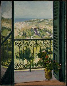 Albert Marquet, View from a Balcony, 1945. ver foto de la Luna de Miel para pintar
