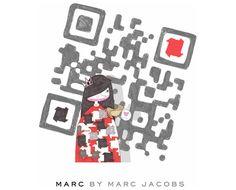 código QR creado para la firma  MARC BY MARC JACOBS,  la línea de difusión de mundialmente reconocido diseñador de moda.