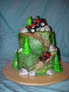 Four-wheeler cake i want this for my birthday mom love Caden