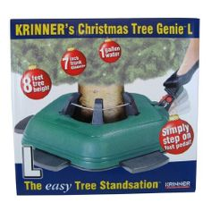 Krinner Christmas Tree Genie L Christmas Tree Stand (832494005007) 1 gallon water capacity Convenient foot pedal Weighs 13 lbs Hold trunks 1 to 7 inches in diameter 3 year warranty