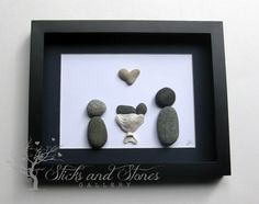 Unique New Baby Gift - Personalized New Baby Gifts- Whimsical Shower Gift- Pebble Art on Etsy, $80.00 CAD