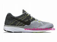 size 40 e24b3 ff463 Site Nike Flyknit Lunar 3 Chaussures Officiel Nike Pour Homme Gris Blanc  Noir…
