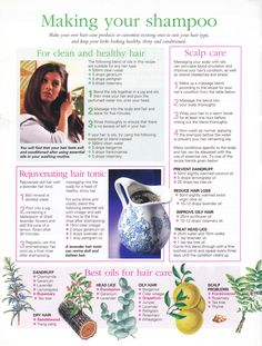 Mind, Body, Spirit Collection - Making Your Shampoo Holistic Remedies, Natural Health Remedies, Herbal Remedies, Hair Remedies, Doterra Essential Oils, Young Living Essential Oils, Essential Oil Blends, Natural Medicine, Herbal Medicine