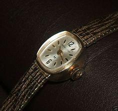 1950er Jahre HAMILTON echt 10K Gold Plated Armbanduhr Uhr 10K GP Armband