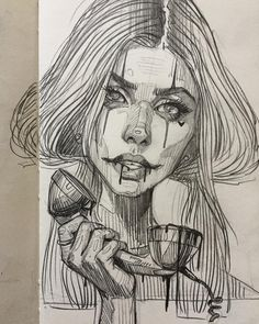"3,888 mentions J'aime, 23 commentaires - Arsek & Erase (@arsek_erase) sur Instagram : ""One call away  #drawing #sketch #inktober #pencil #girl #sexy #bad #life #love #youngliving…"""