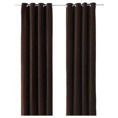 SANELA Curtains, 1 pair - IKEA- chocolate brown velvet £55 a pair