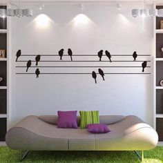 Sheet music small birds background home wall decal/removable waterproofing vinyl wall sticker ZY8226