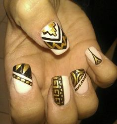 Egyptian Princess Costume Ideas: DIY  I hate the square nails but love the nail pattern