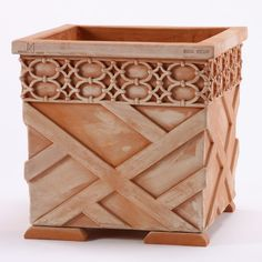 Charlotte Moss and Seibert and Rice have created this chinoiserie terracotta planter inspired by the Pagoda at Chanteloup in France's Loire Valley. Outdoor Planters, Garden Planters, Outdoor Fire, Diy Planters, Planter Boxes, Outdoor Living, Pot Jardin, Garden Journal, Small Patio