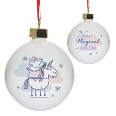 Unicorn Pig, Magical Christmas, Personalized Christmas Gifts, Babies First Christmas, Practical Gifts, Parent Gifts, Christmas Baubles, Peppa Pig, Couple Gifts