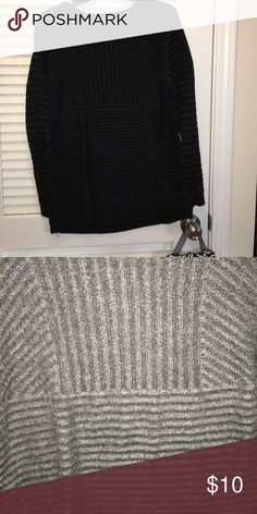 Black and grey ribbed sweater Worn once! new directions Sweaters Crew & Scoop Necks