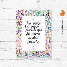 Placa Decorativa Sorrisos - AdsiveShop Adesivos Decorativos
