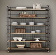 circa 1900 french caged baker s rack by restoration hardware
