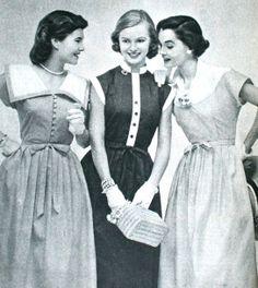 Three summer dresses, Libelle (Dutch) June 1953