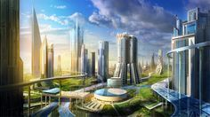 50+ Breathtaking Future City Concept Art Truly smart and Real